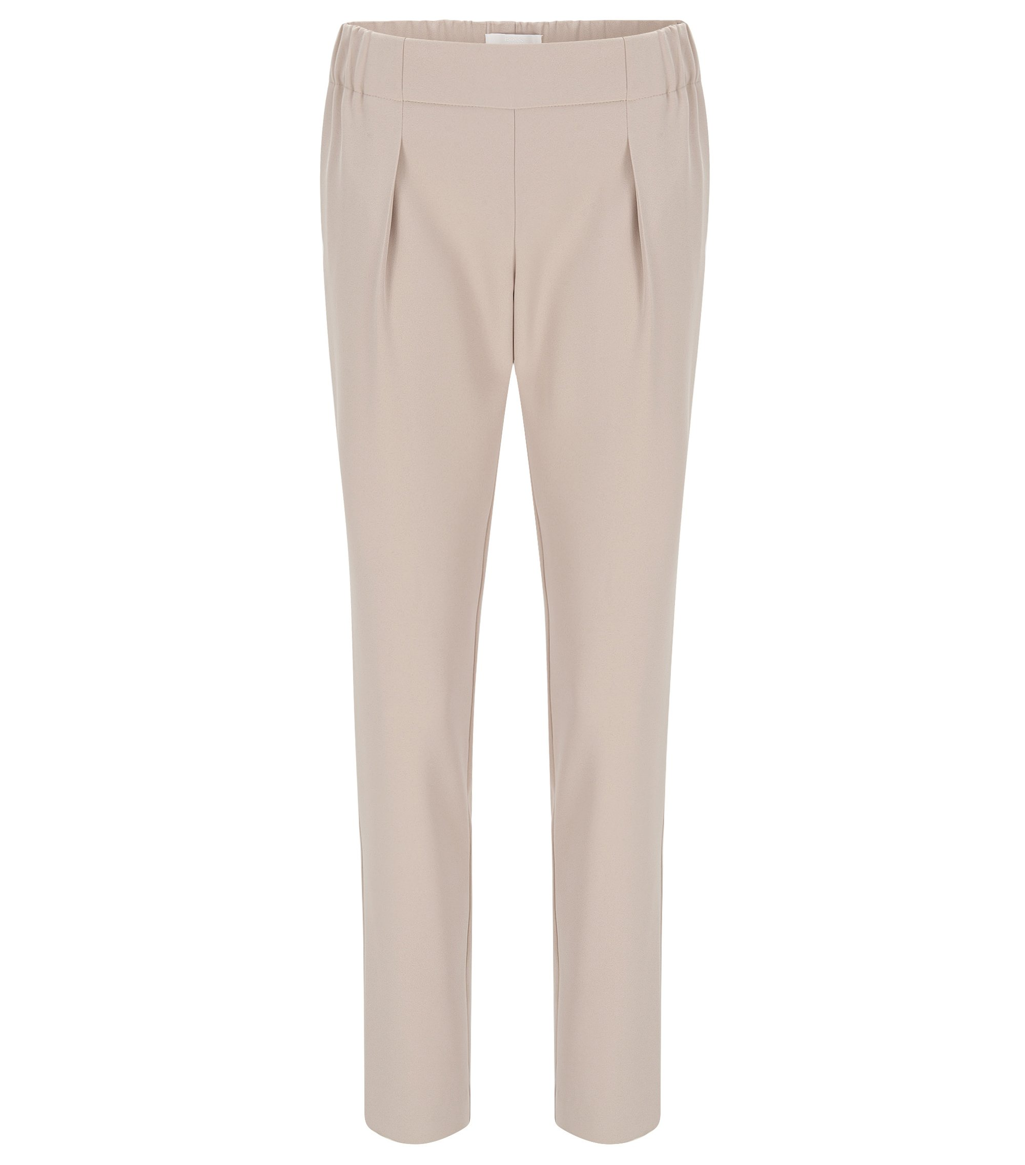 Pantaloni relaxed fit in stile jogging, Beige