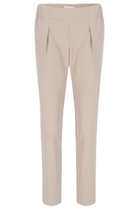 Relaxed-fit trousers with jogger styling, Beige