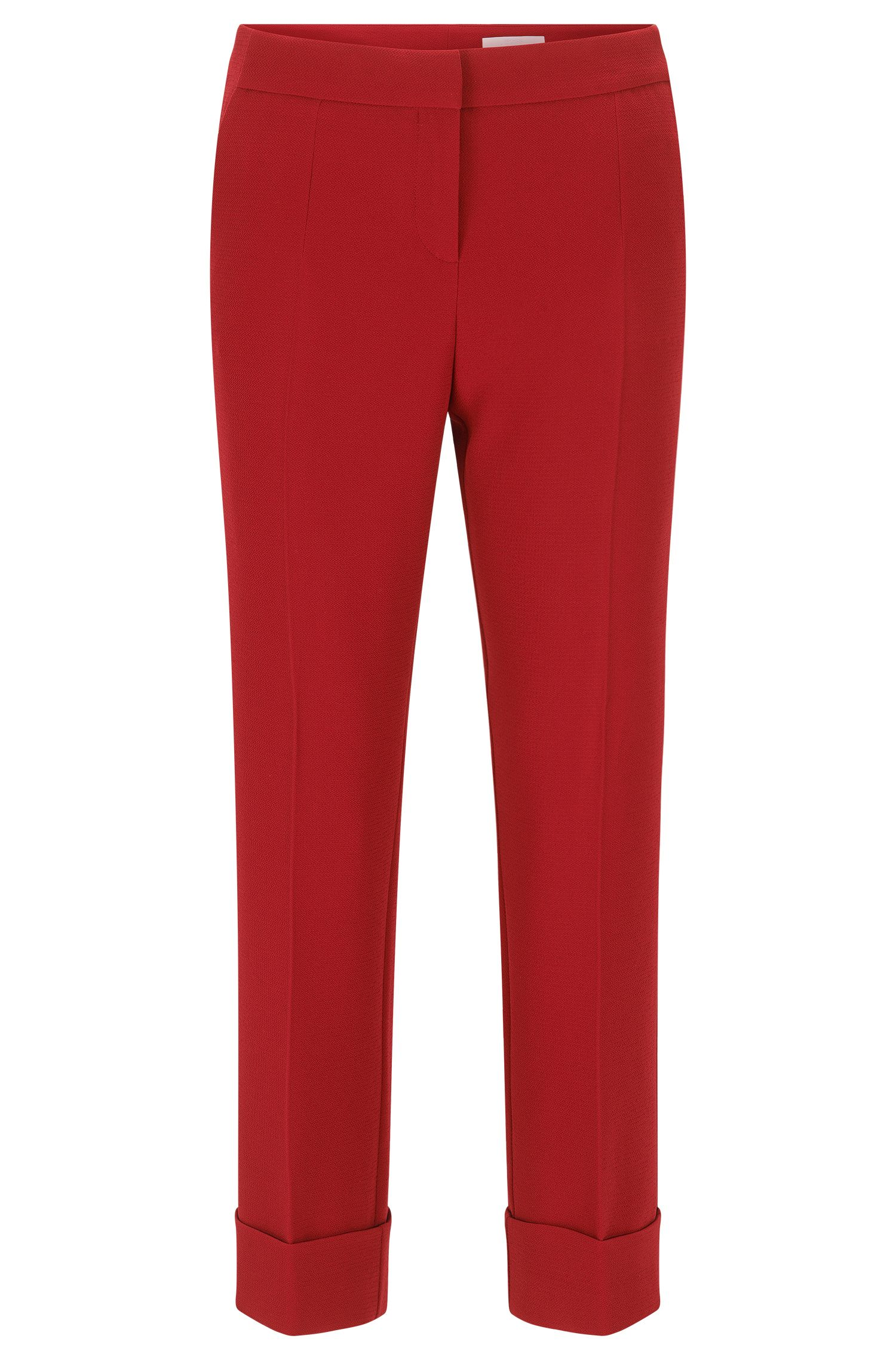 Relaxed-fit trousers with a cropped length