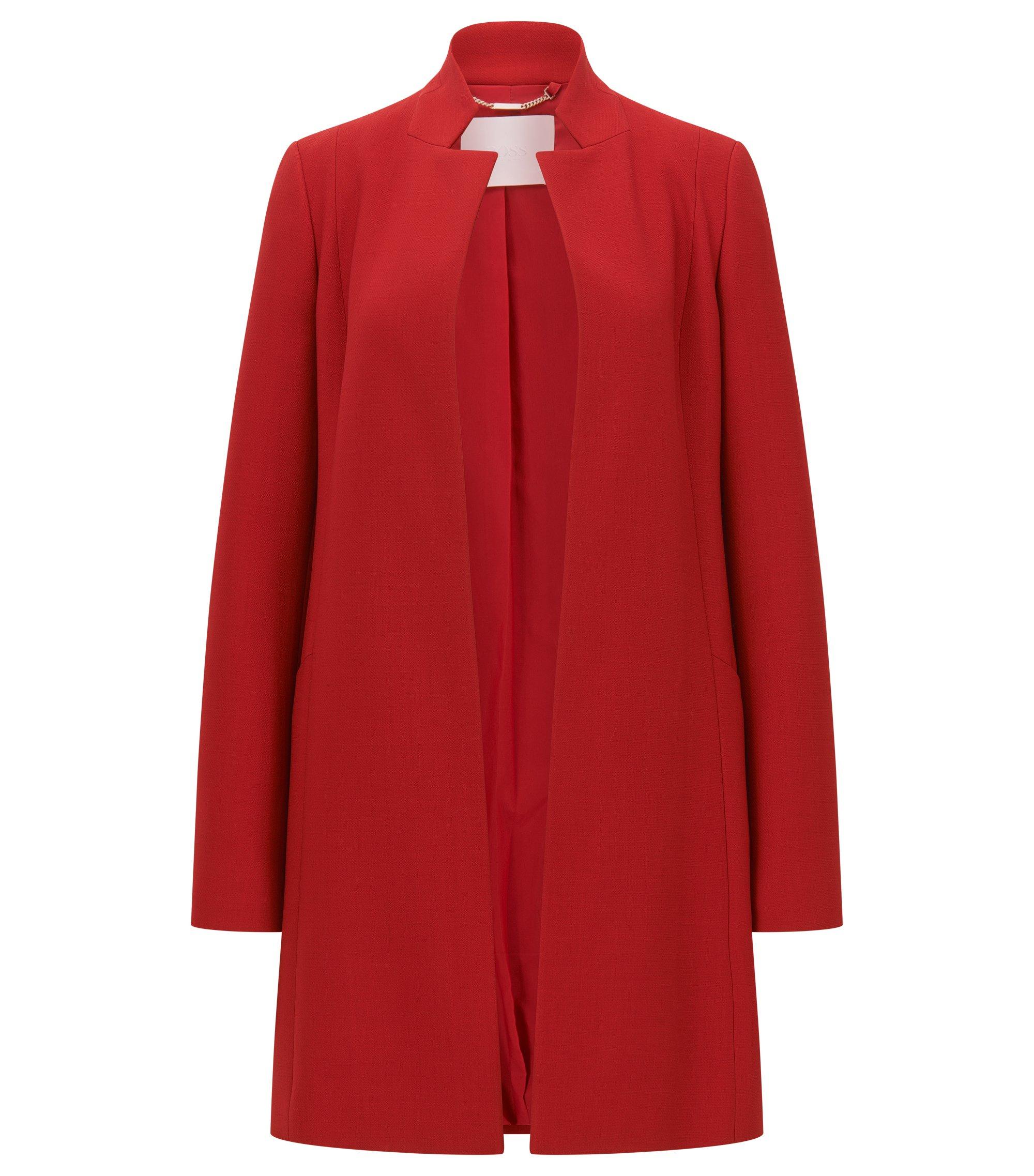 Manteau Regular Fit en laine vierge italienne, Rouge