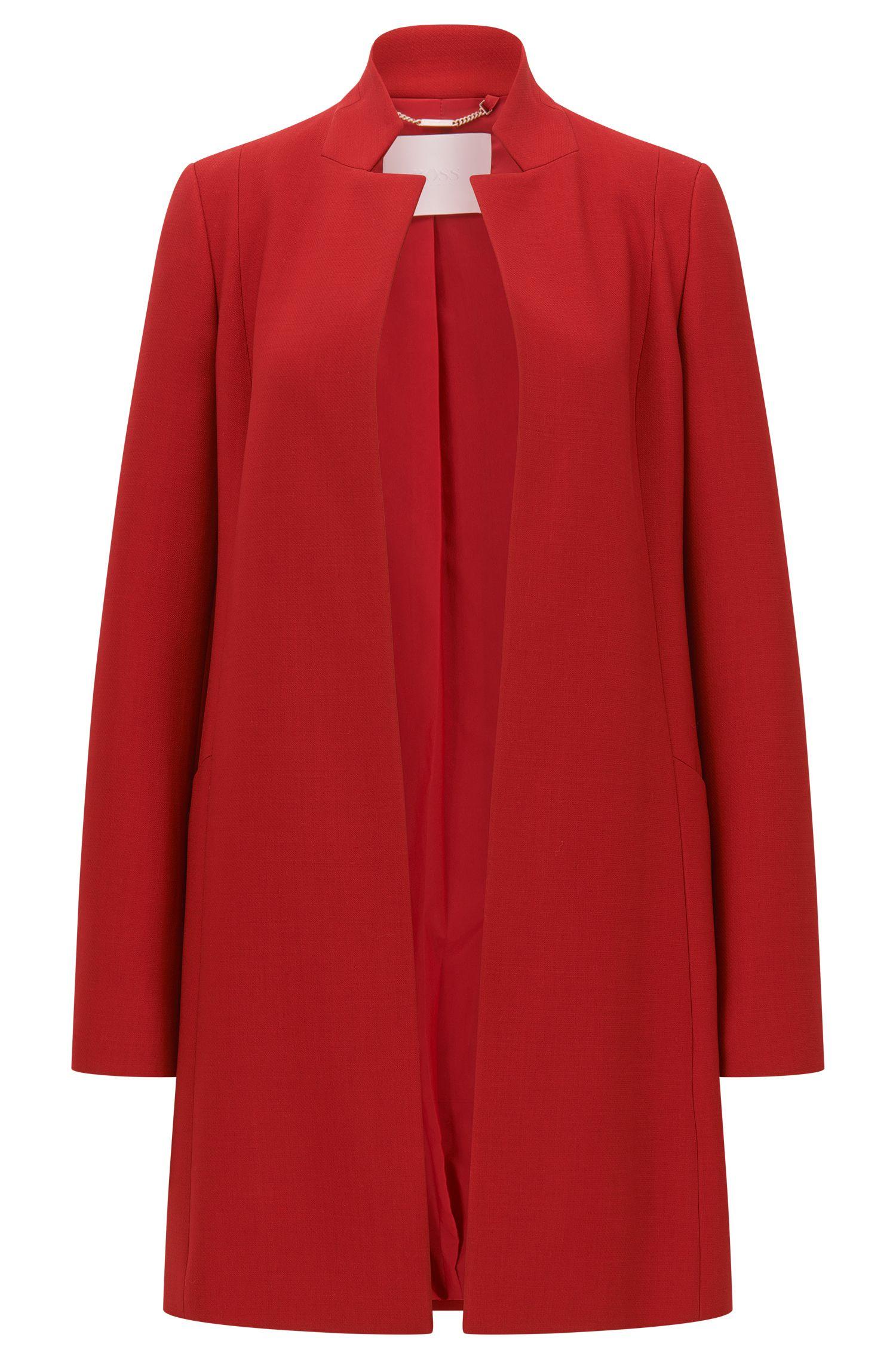 Abrigo regular fit en lana virgen italiana