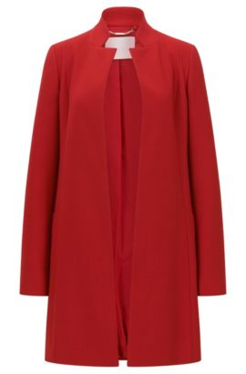 Regular-fit coat in Italian virgin wool, Red