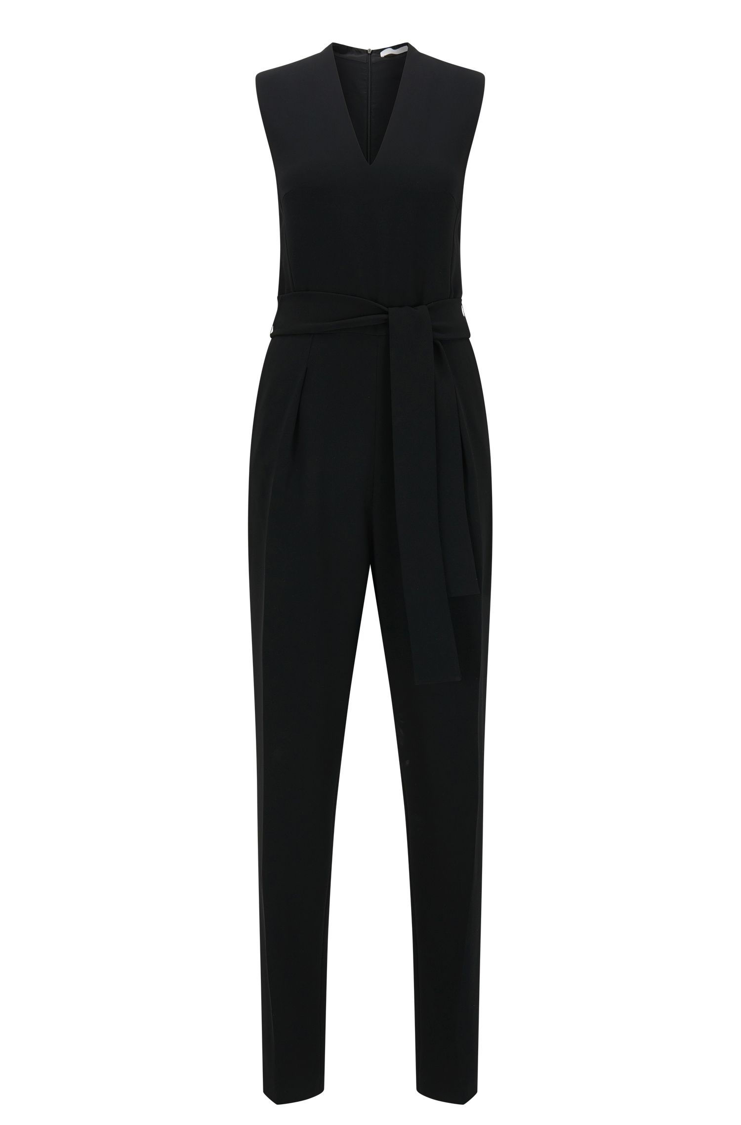 Slim-fit jumpsuit with V-neck design
