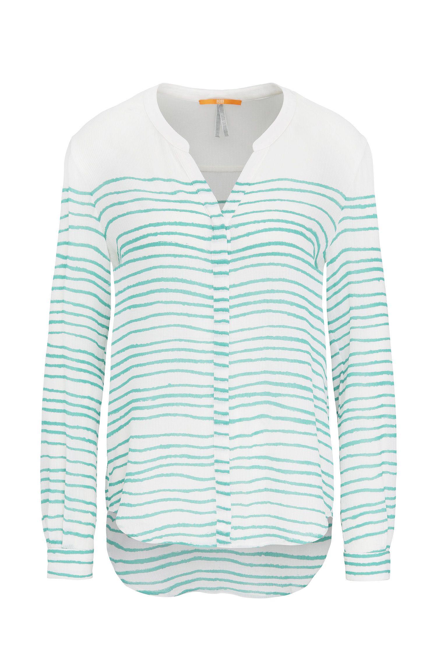 Relaxed-Fit Bluse aus Seide mit Streifen-Muster: ´Efelize_10`