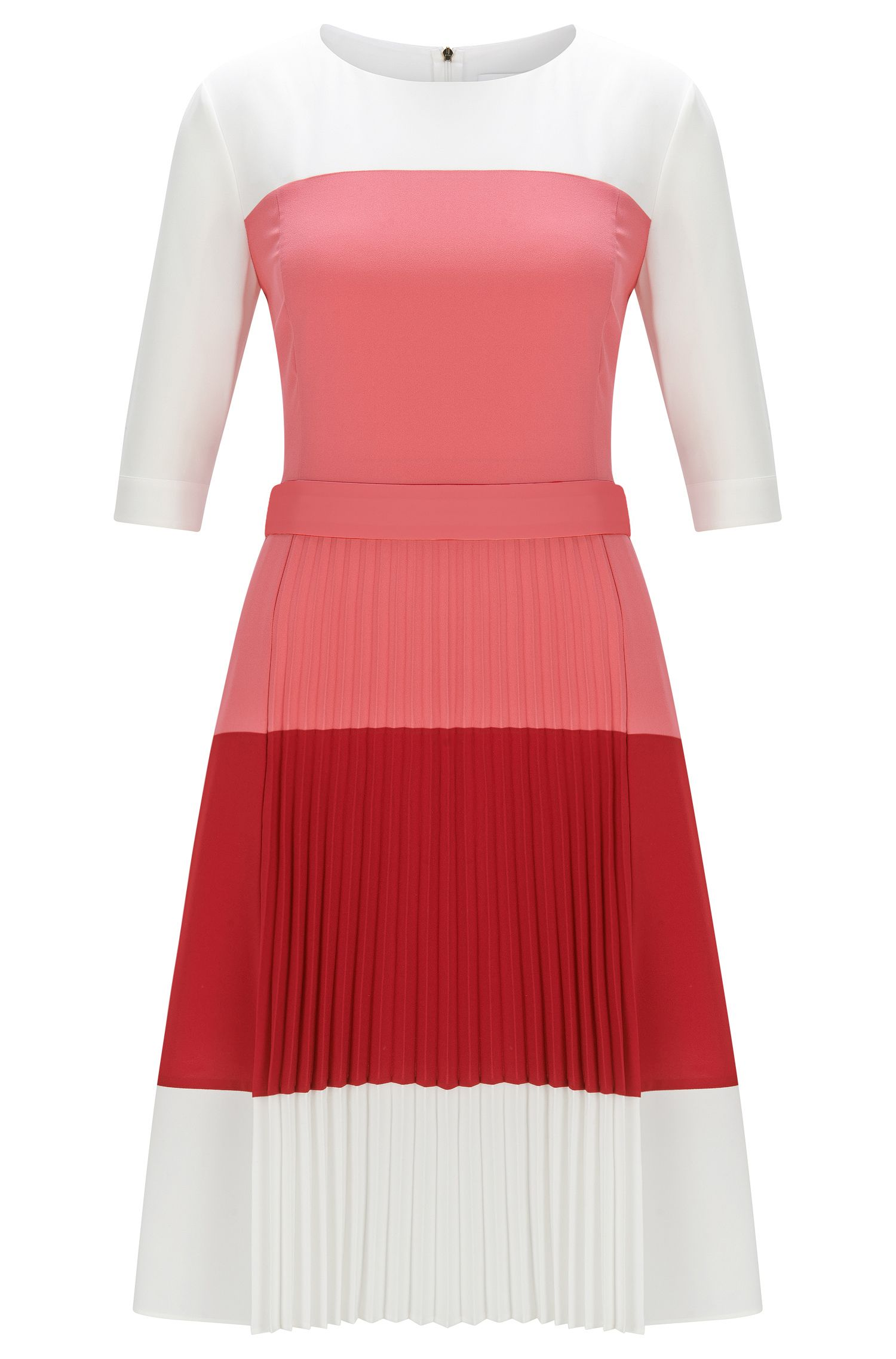 Regular-Fit Kleid aus leichtem Gewebe mit Colour-Block-Design