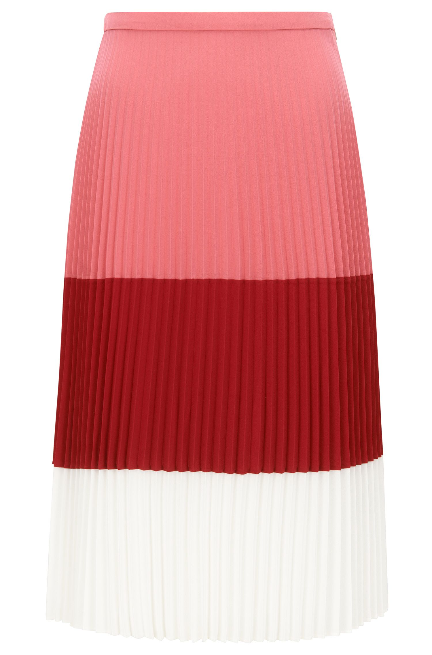 Falda plisada regular fit en tejido ligero