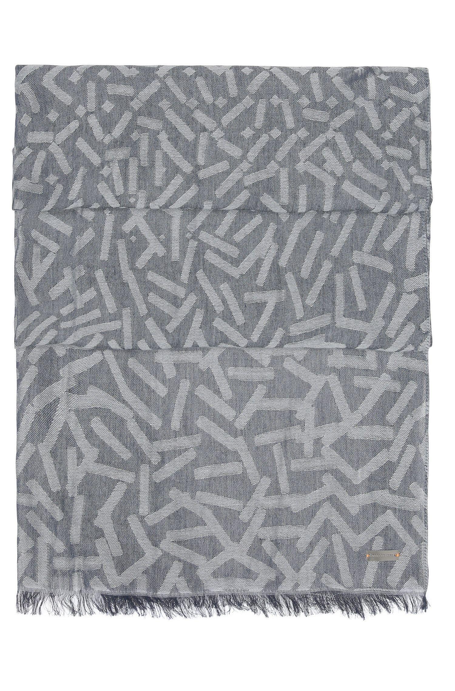 Bufanda de fantasía en jacquard en mezcla de tejidos con algodón
