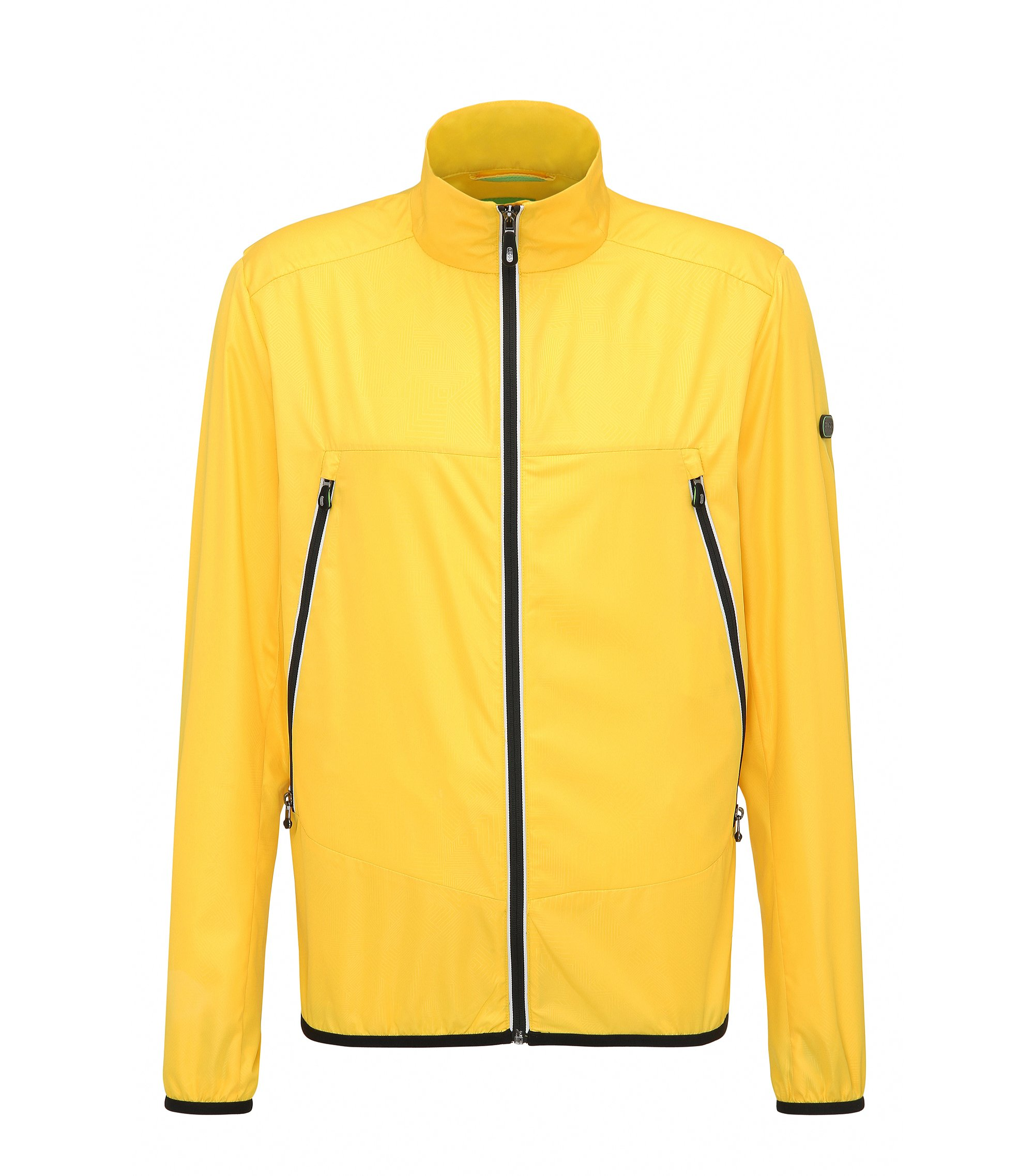 Veste Regular Fit en tissu technique, Jaune
