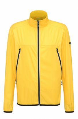 Regular-fit jacket in technical fabric, Yellow