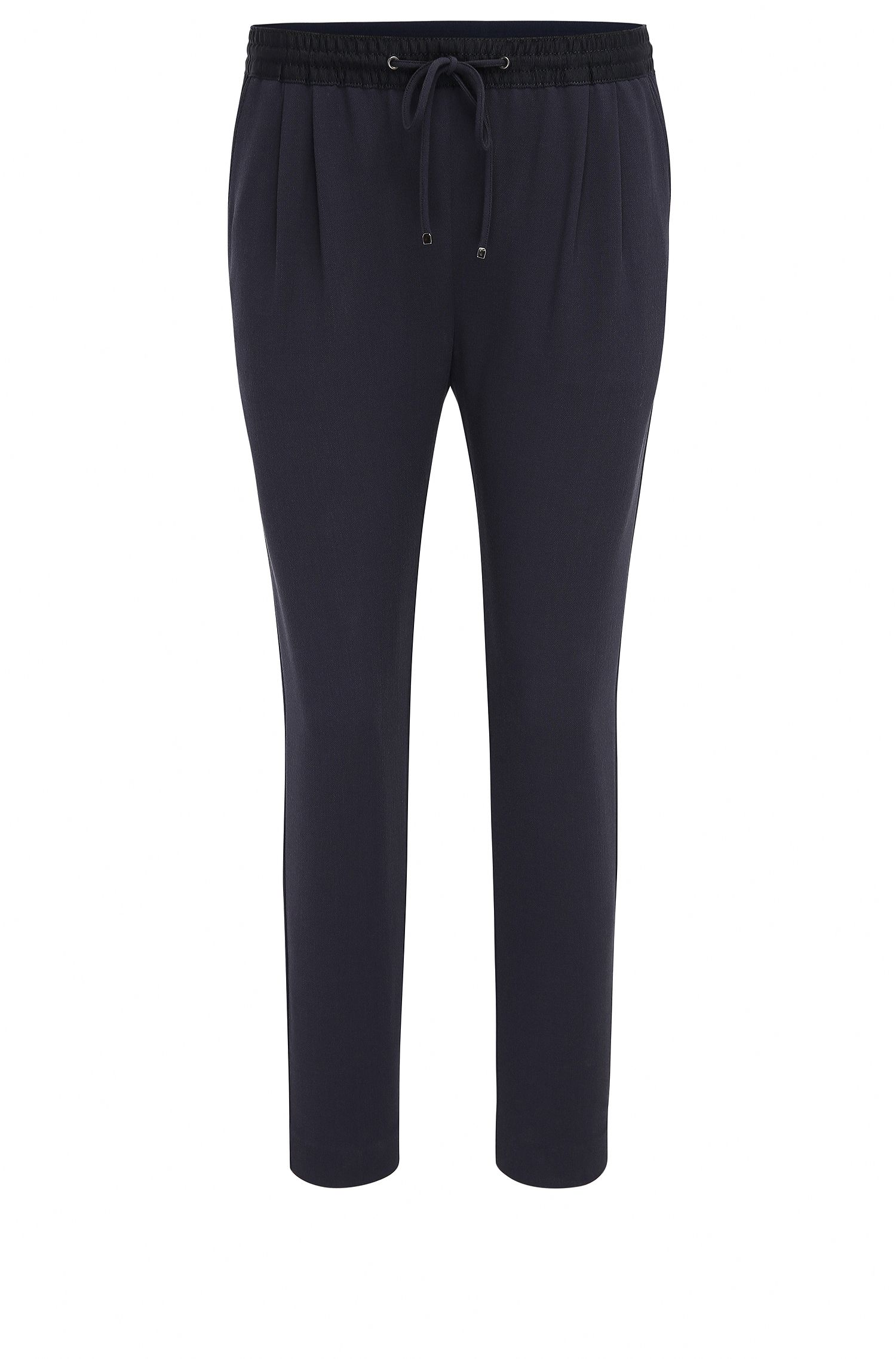 Relaxed-fit broek in stretchpiqué
