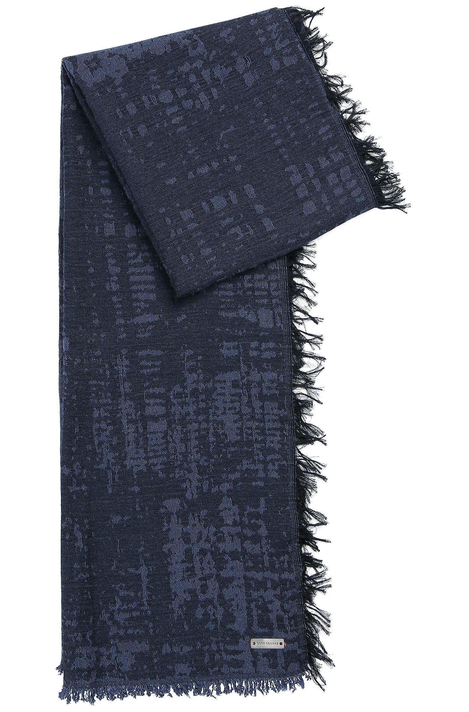 Sjaal van katoen met geïntegreerd logo