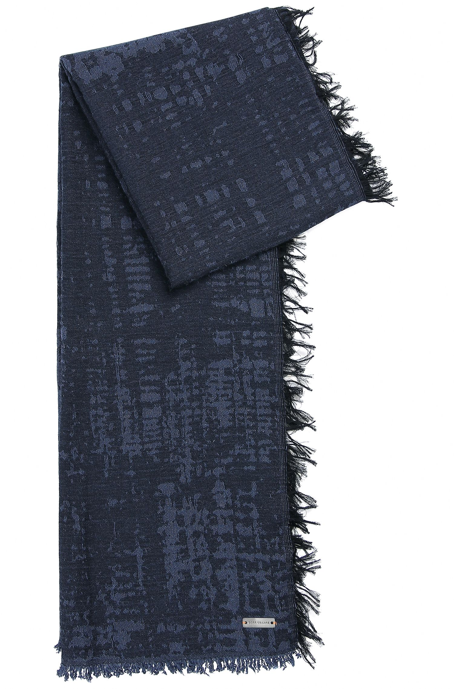 Cotton scarf with integrated logo