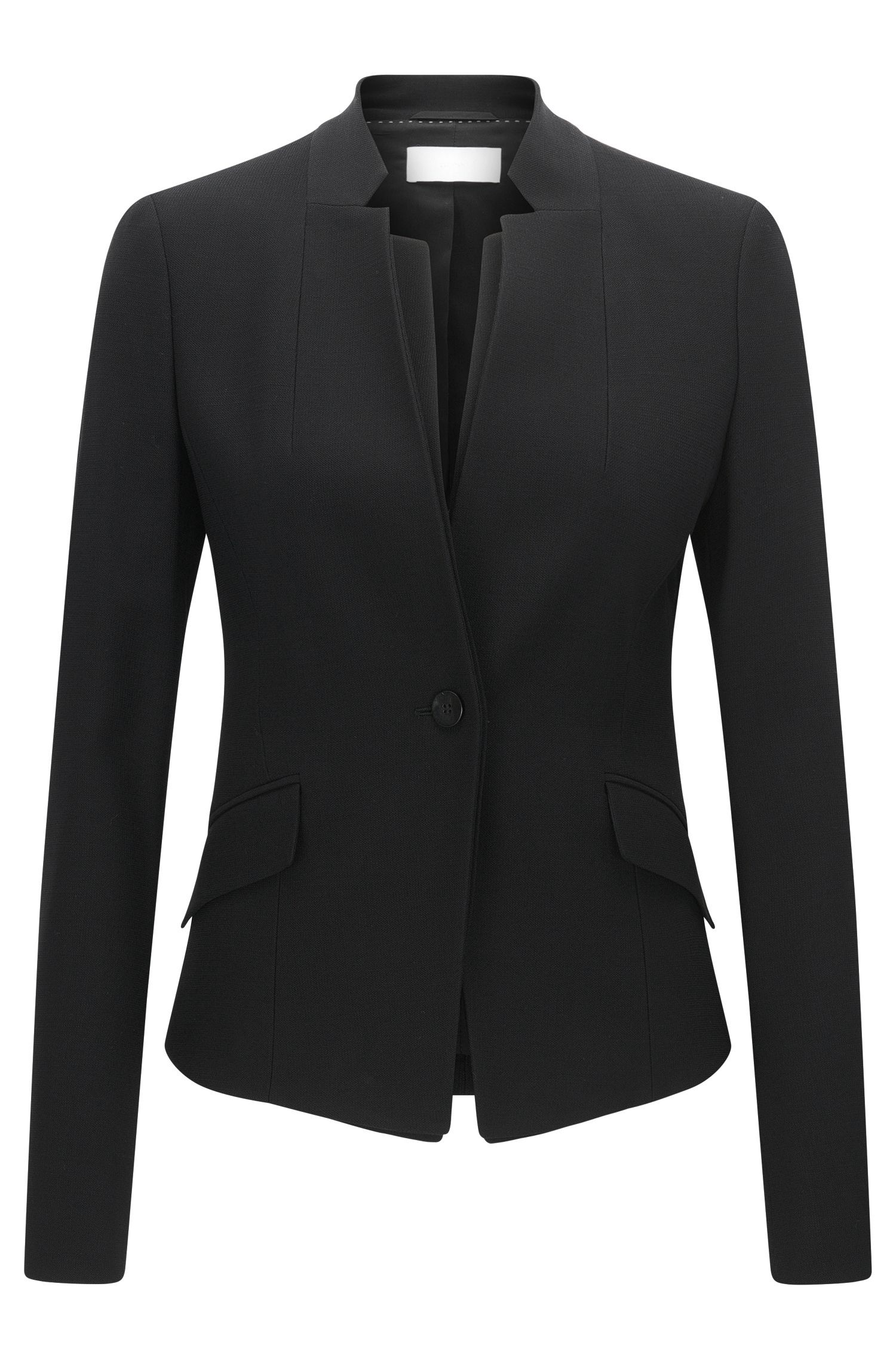Blazer Regular Fit en laine vierge stretch