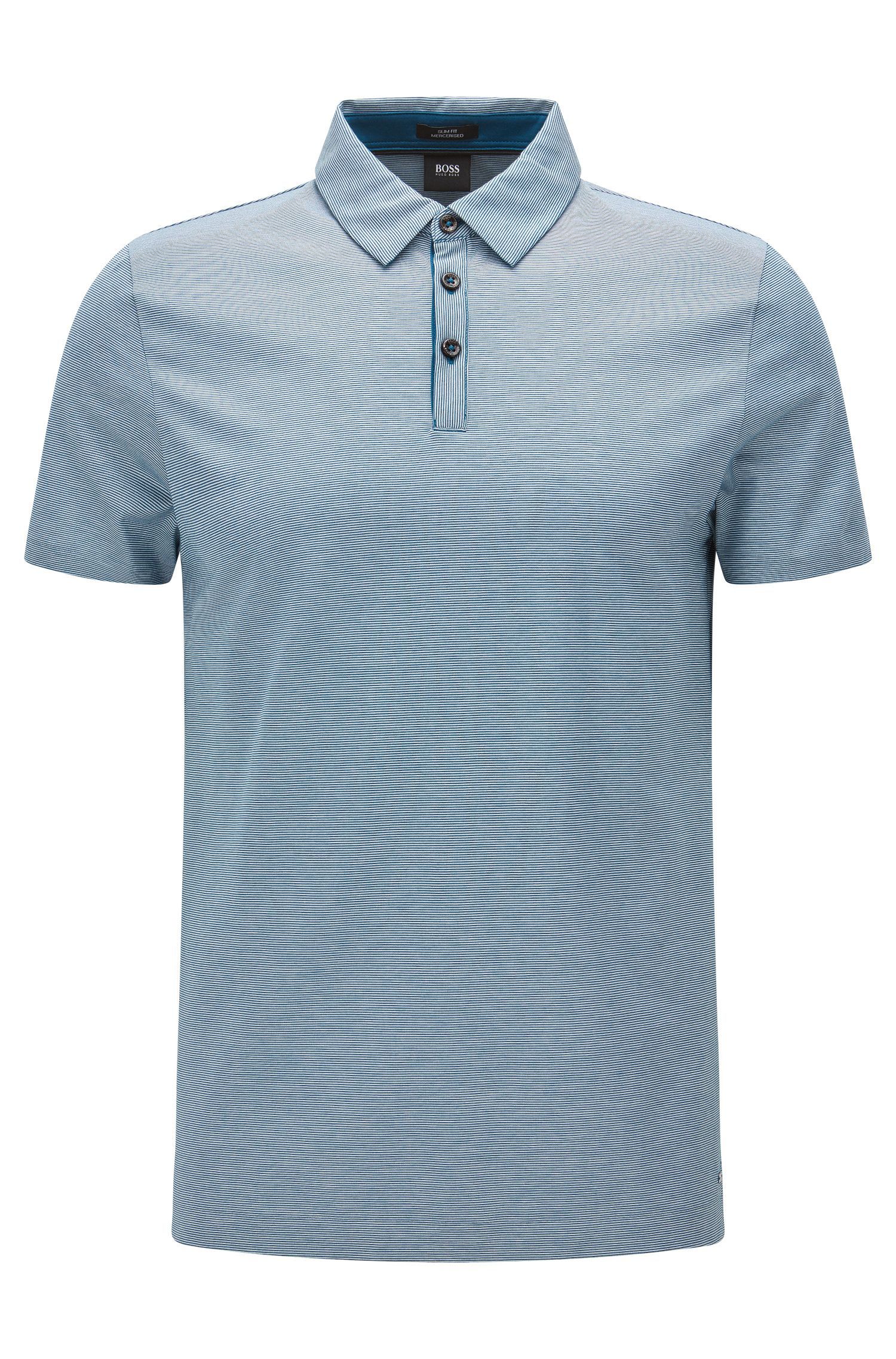 Slim-fit cotton polo shirt with modern collar