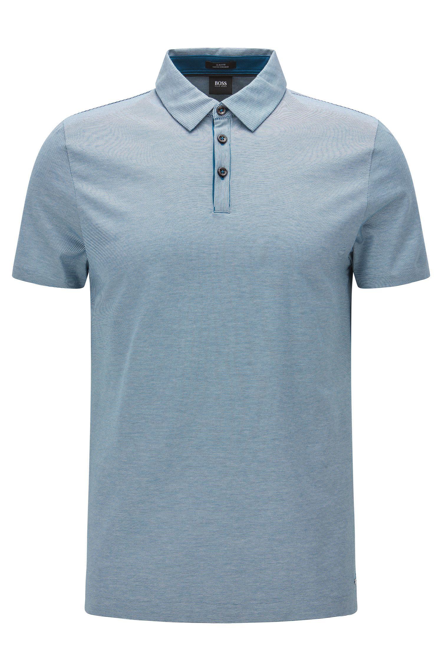 Slim-Fit Poloshirt aus reiner Baumwolle