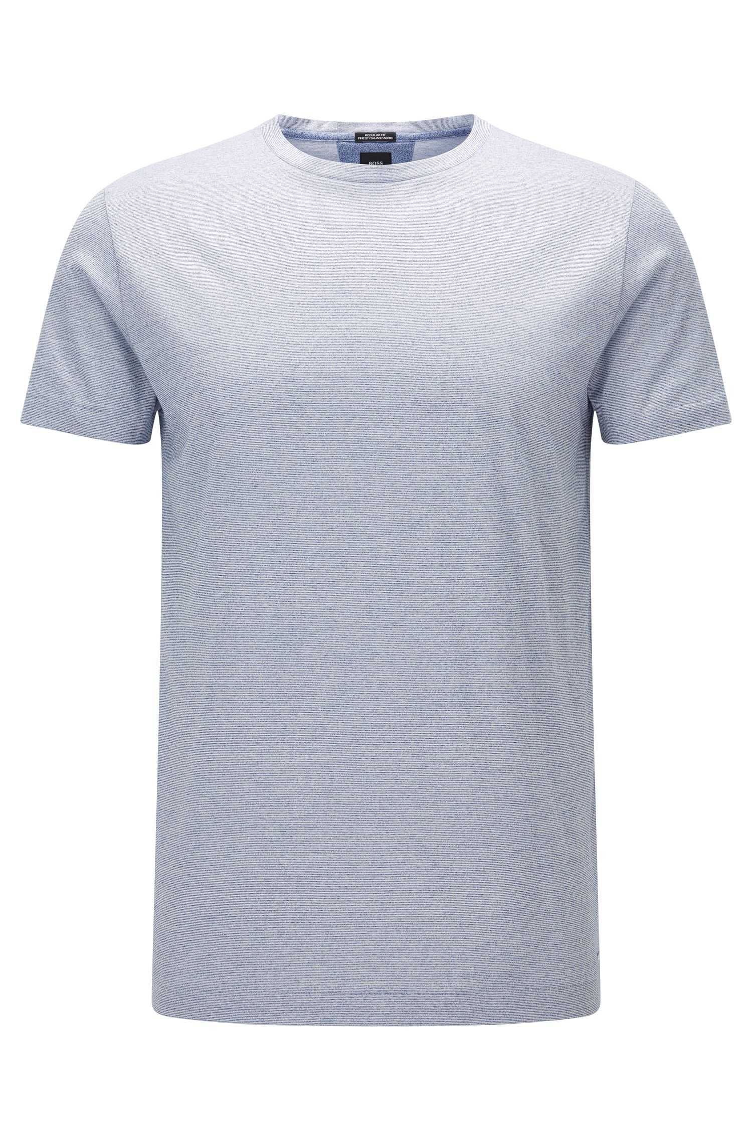 Regular-Fit T-Shirt aus Fil-à-Fil-Baumwolle