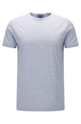 Regular-fit T-shirt van fil-à-fil katoen, Donkerblauw