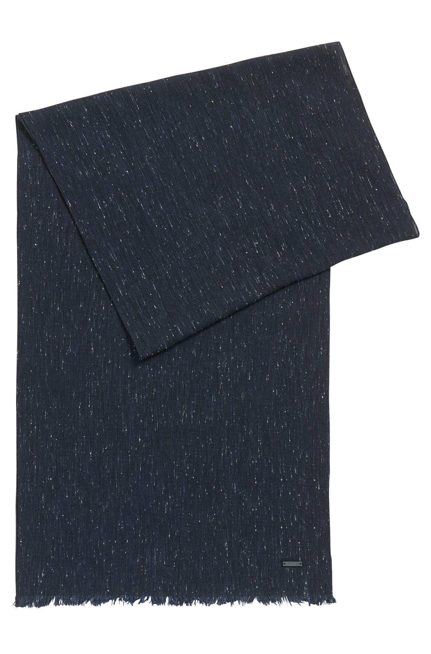 Sjaal van een geweven katoenmix met gemêleerd effect