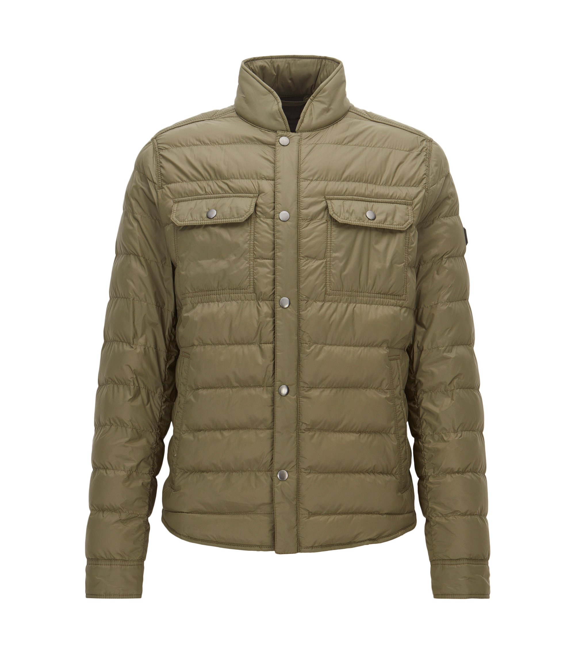 Regular-fit jacket in technical fabric, Dark Green