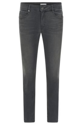 Regular-fit jeans van stretchdenim, Antraciet