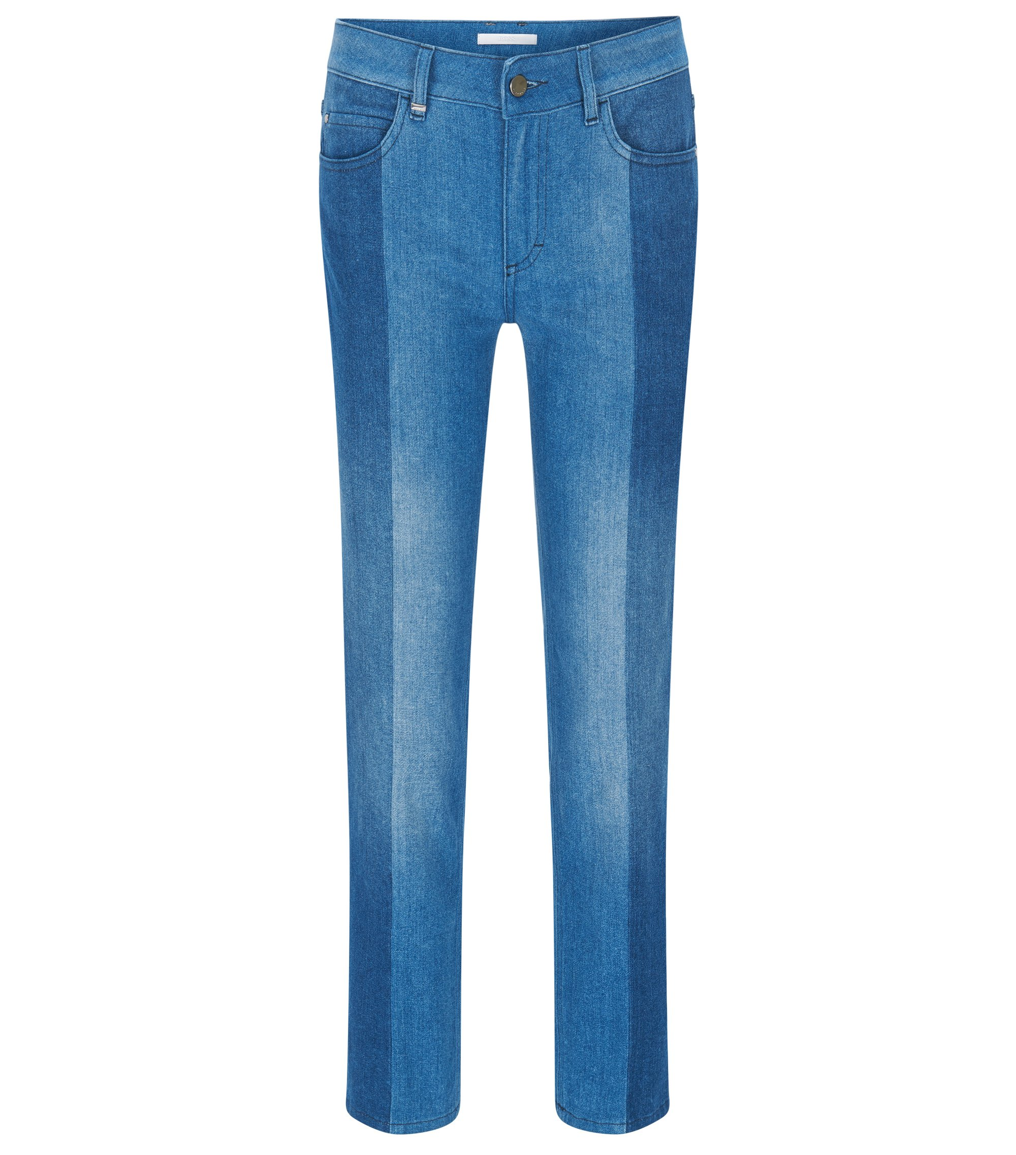 Jeans Relaxed Fit en denim italien premium, Bleu