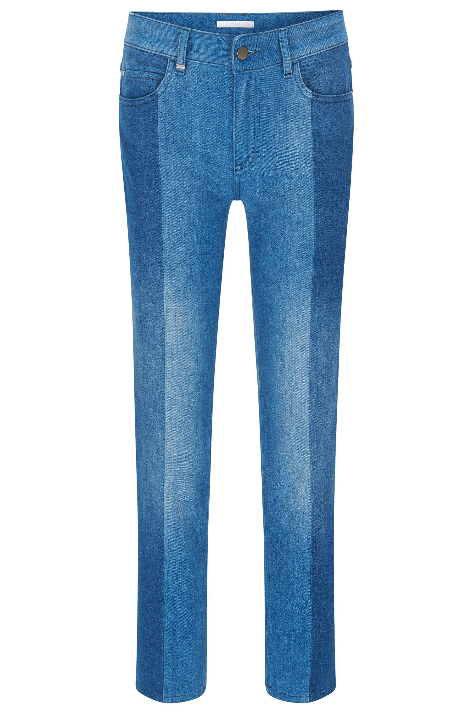 Relaxed-fit jeans van premium Italiaans denim