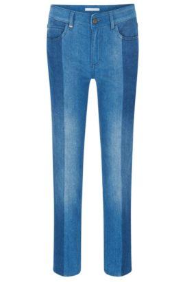 Jeans regular fit in denim italiano di qualità superiore, Blu
