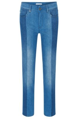 Jeans regular fit in denim italiano di qualità superiore, Blu