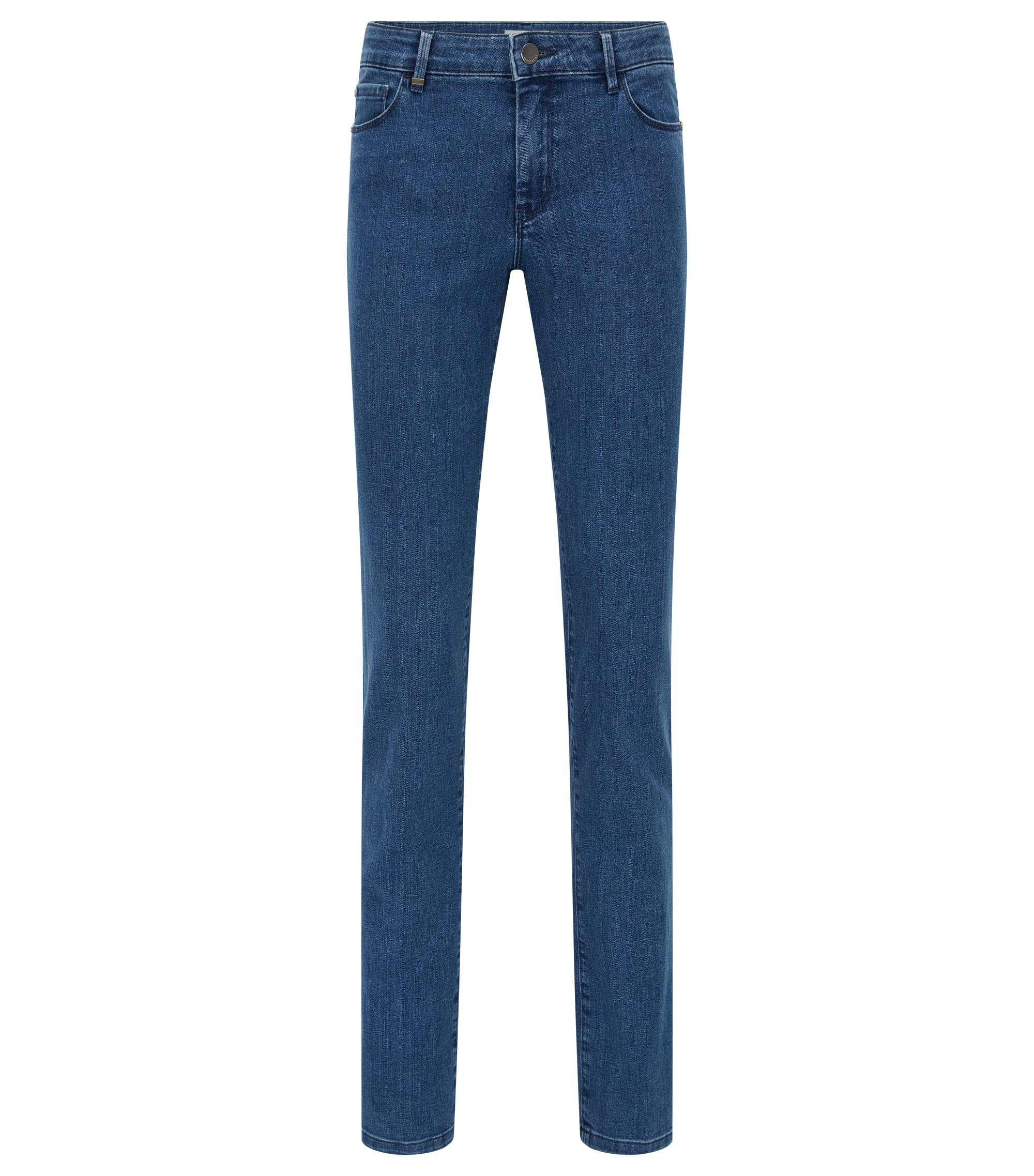 Jeans Regular Fit en denim stretch confortable, Bleu