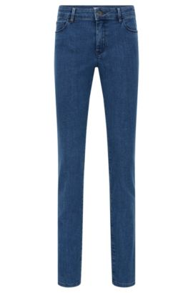 Regular-fit jeans van comfortabele stretchdenim, Blauw