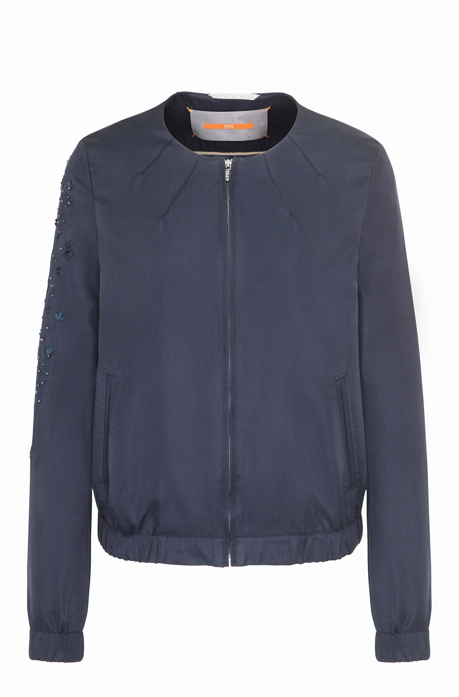 Relaxed-fit blouson jacket