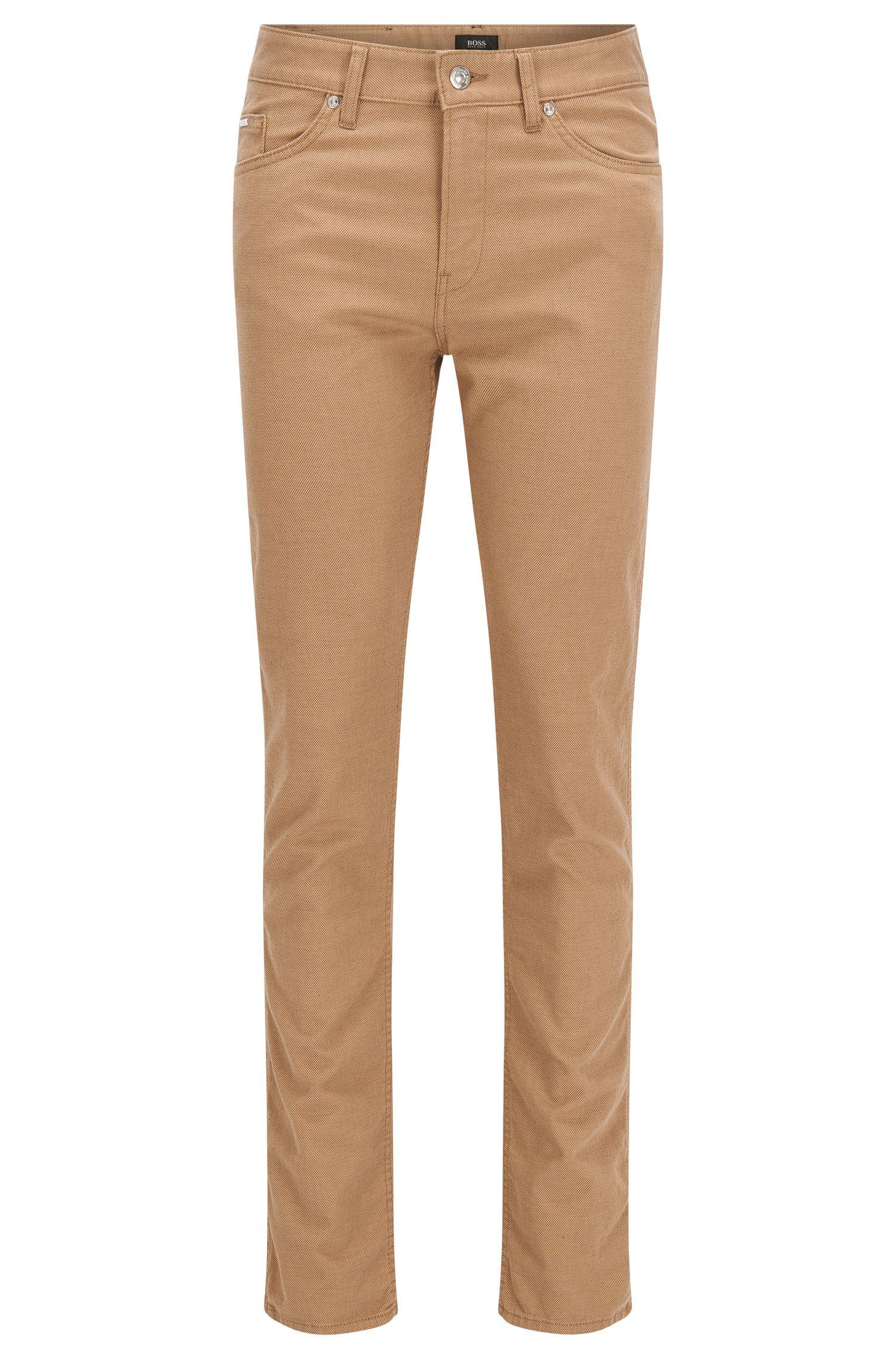 Slim-fit jeans van stretchdenim in tweekleurige look