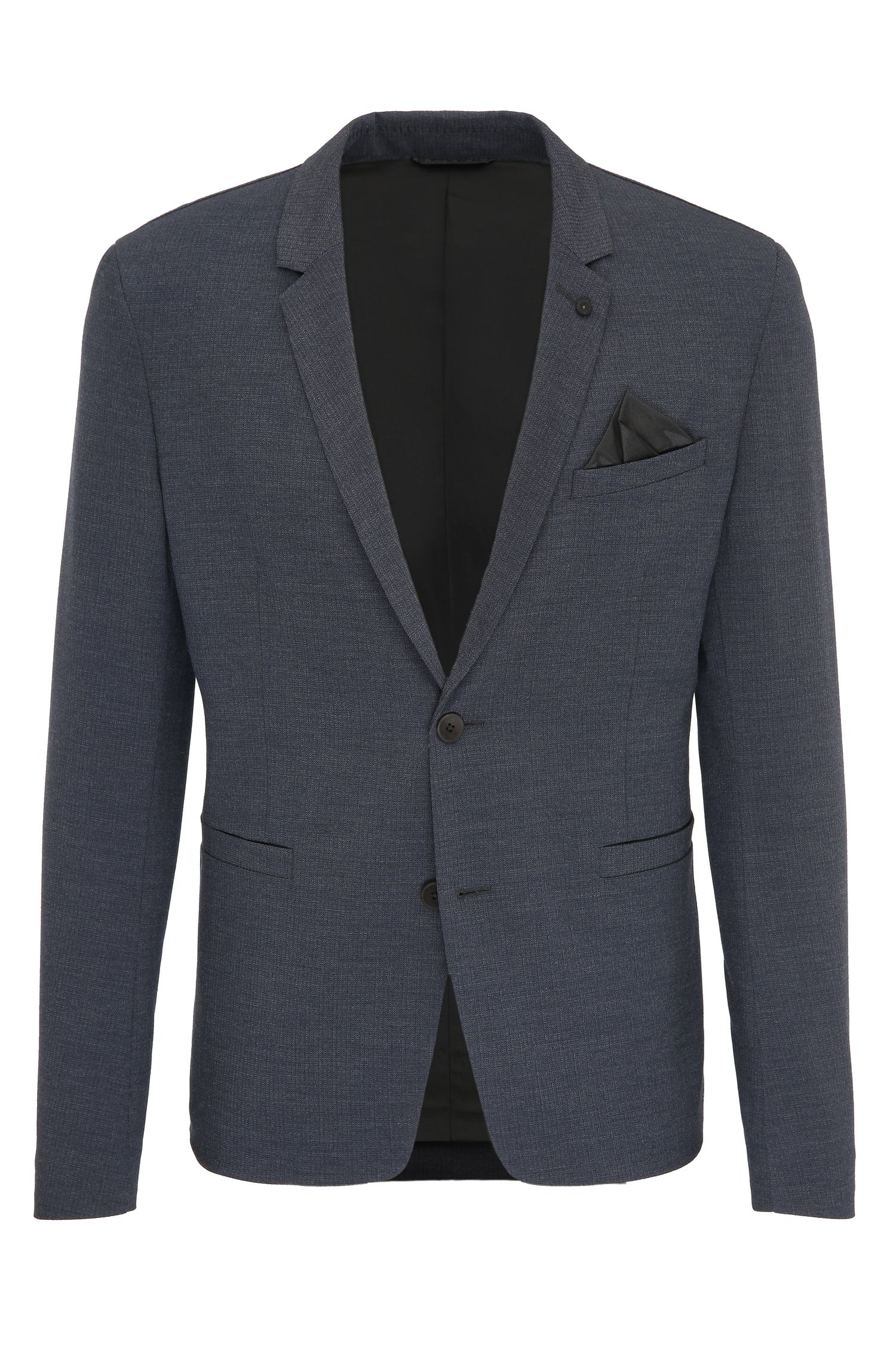 Slim-fit jacket in stretch patterned fabric