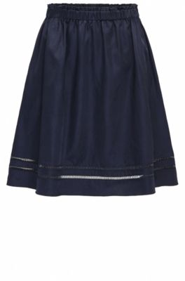 Relaxed-fit A-line skirt with tape detail, Dark Blue