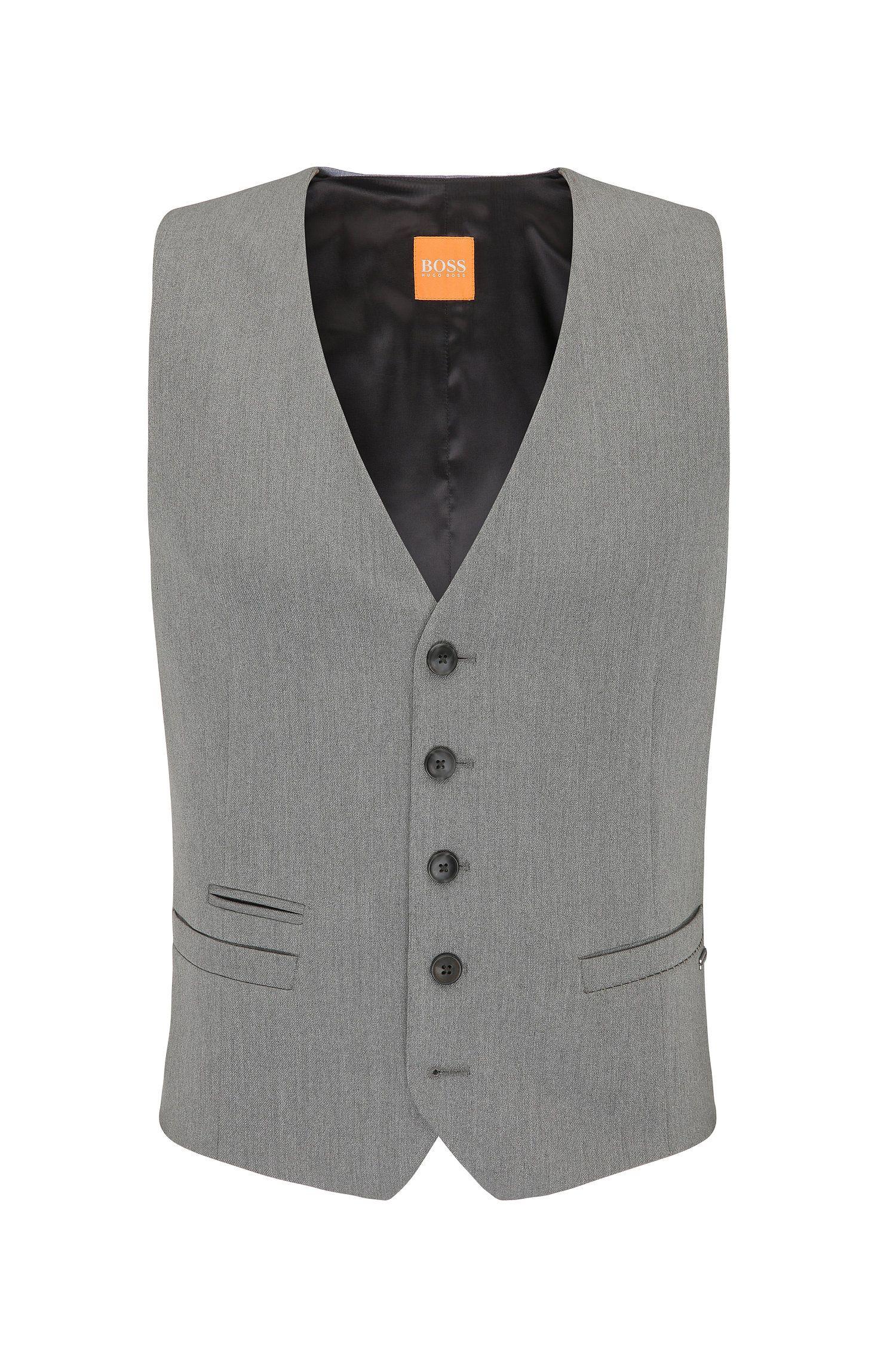 Slim-fit waistcoat in stretch twill