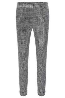 Pantaloni regular fit in misto cotone, A disegni