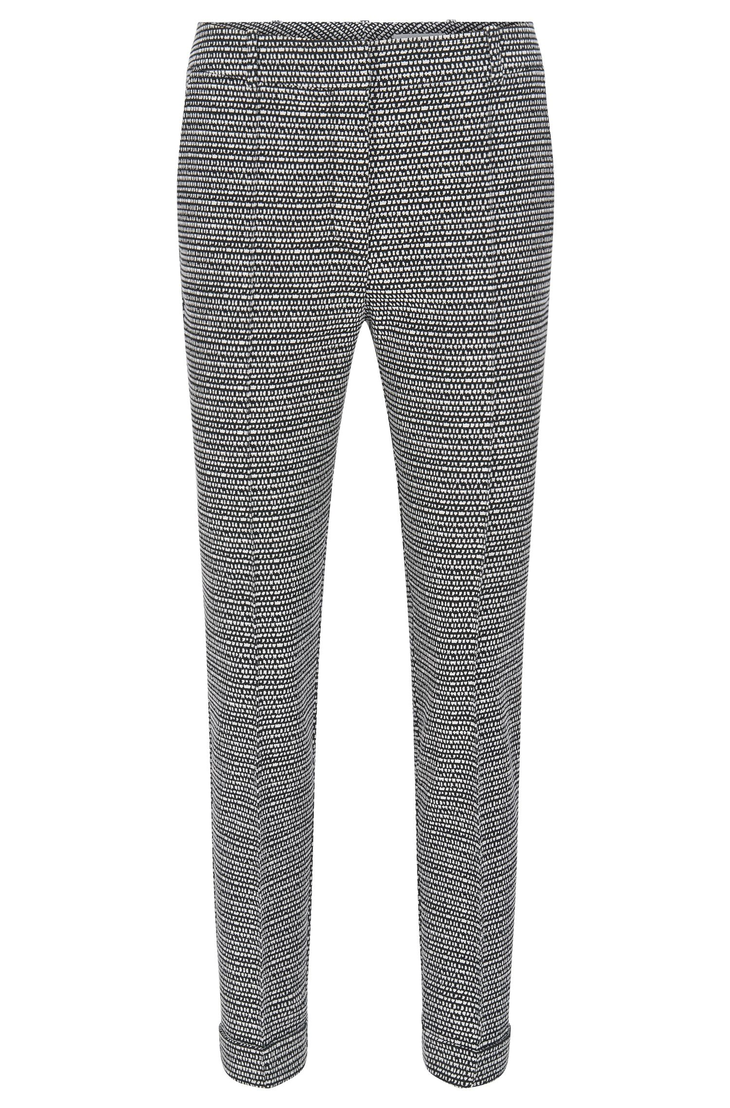 Pantalon Regular Fit en coton mélangé