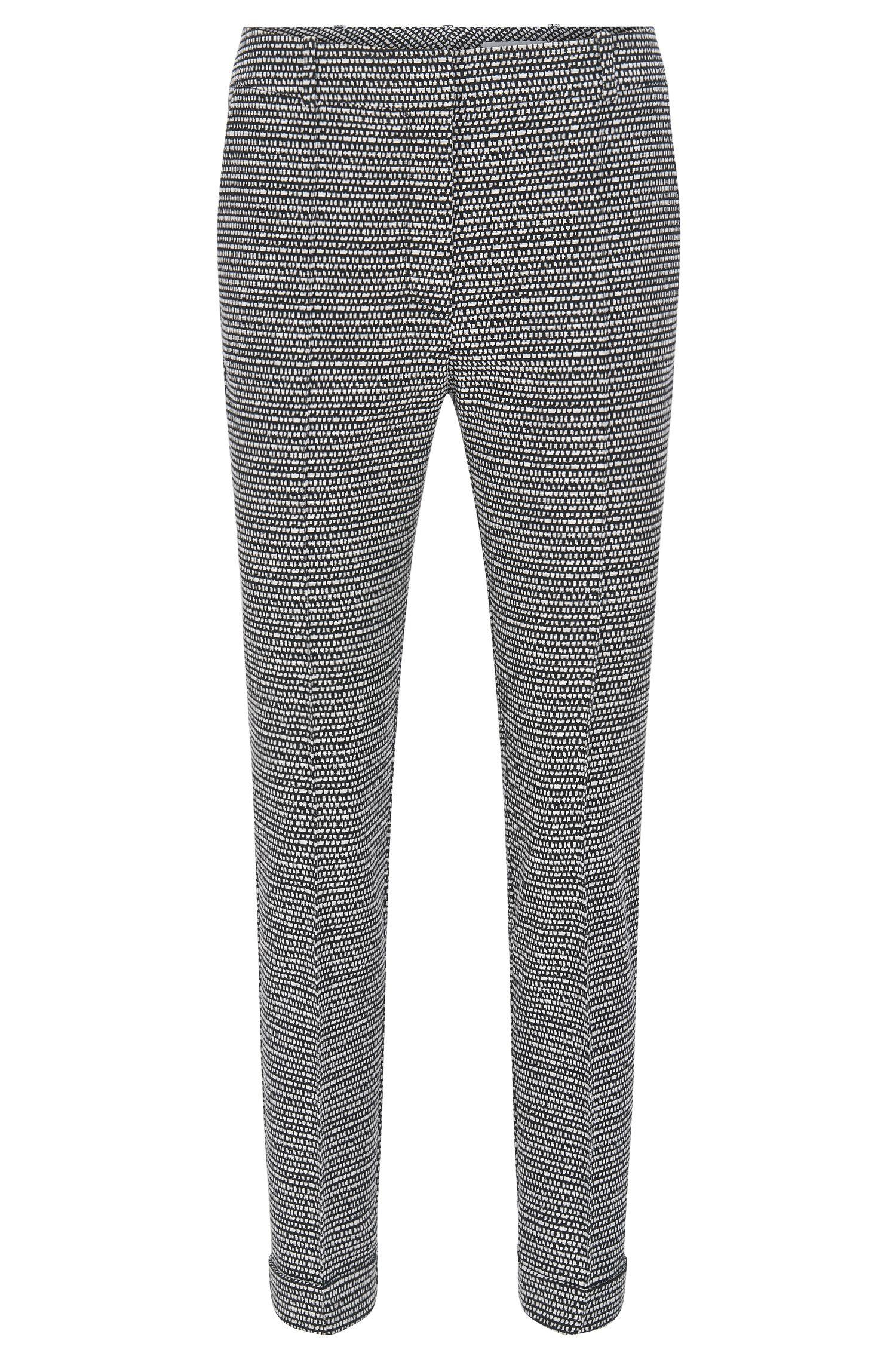 Regular-Fit Hose aus Baumwoll-Mix