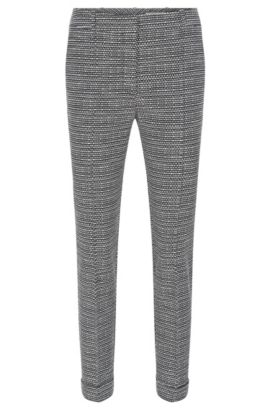 Regular-fit trousers in cotton blend, Patterned