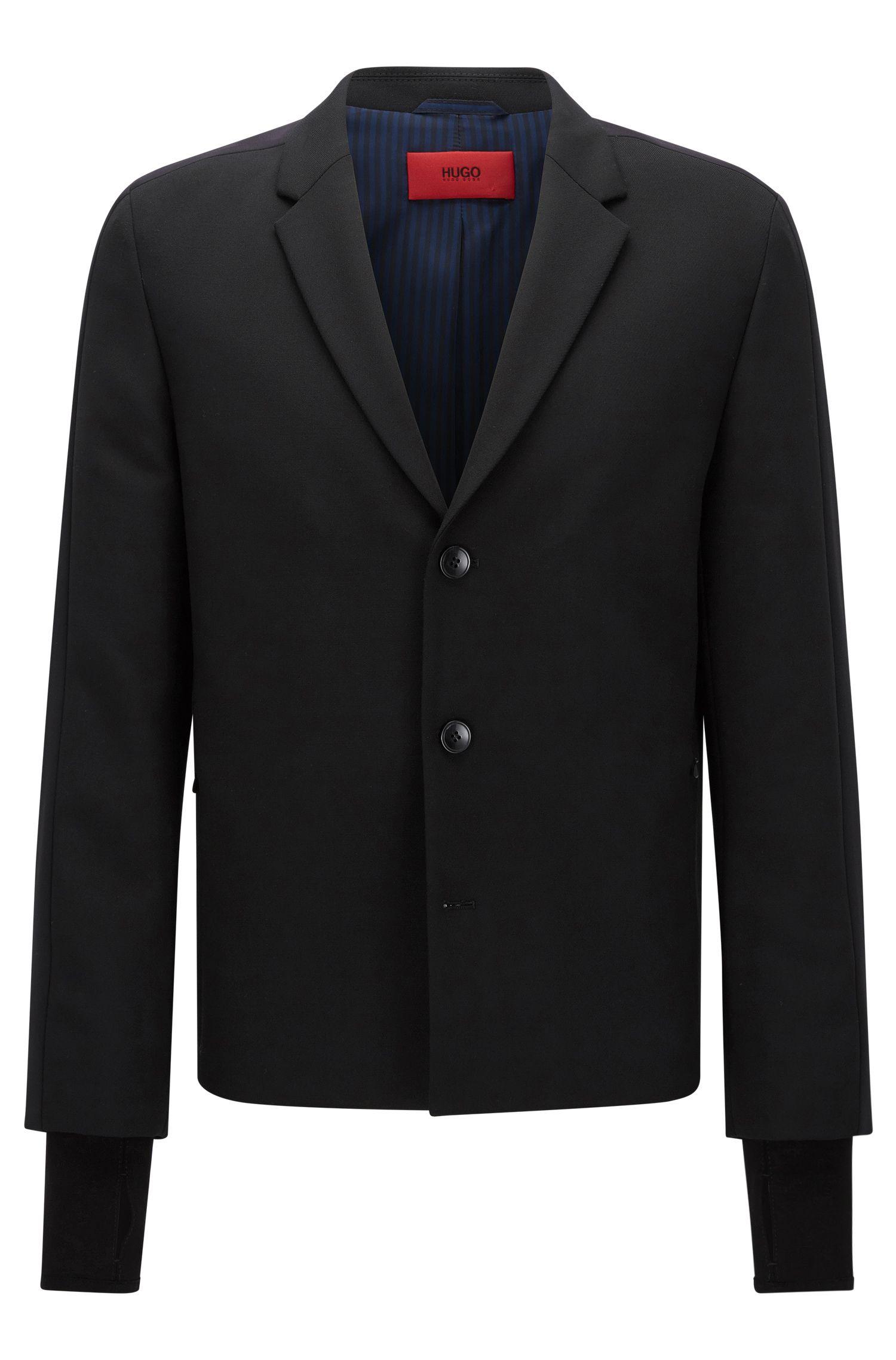 Regular-fit jacket in mixed materials