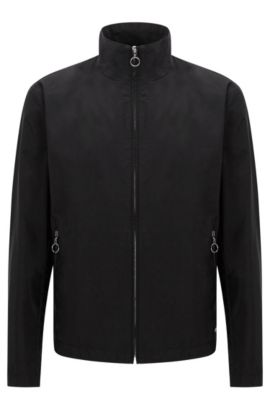 Zip-front jacket in a soft cotton blend , Black