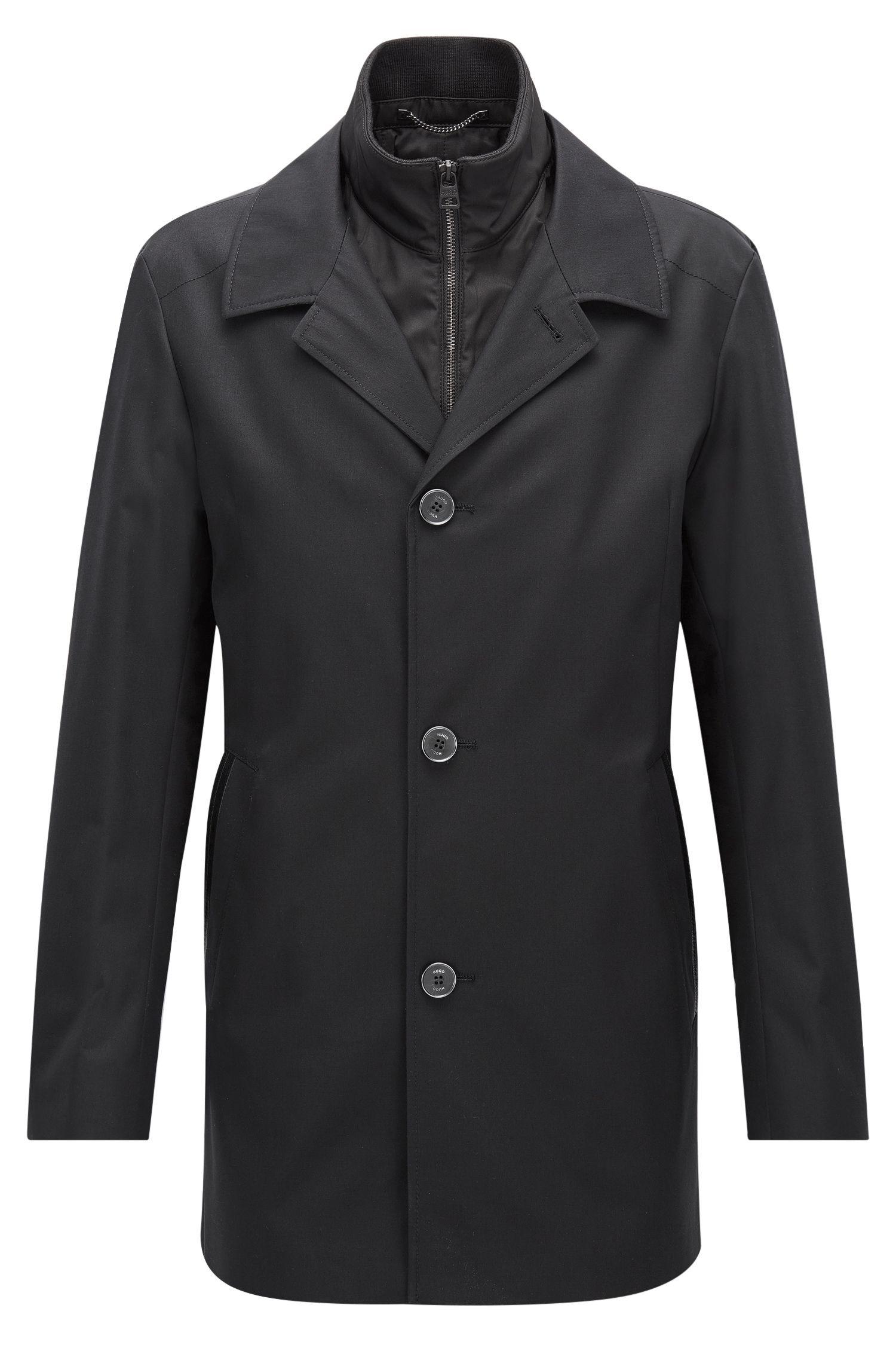 Regular-fit jas van een waterafstotend materiaal