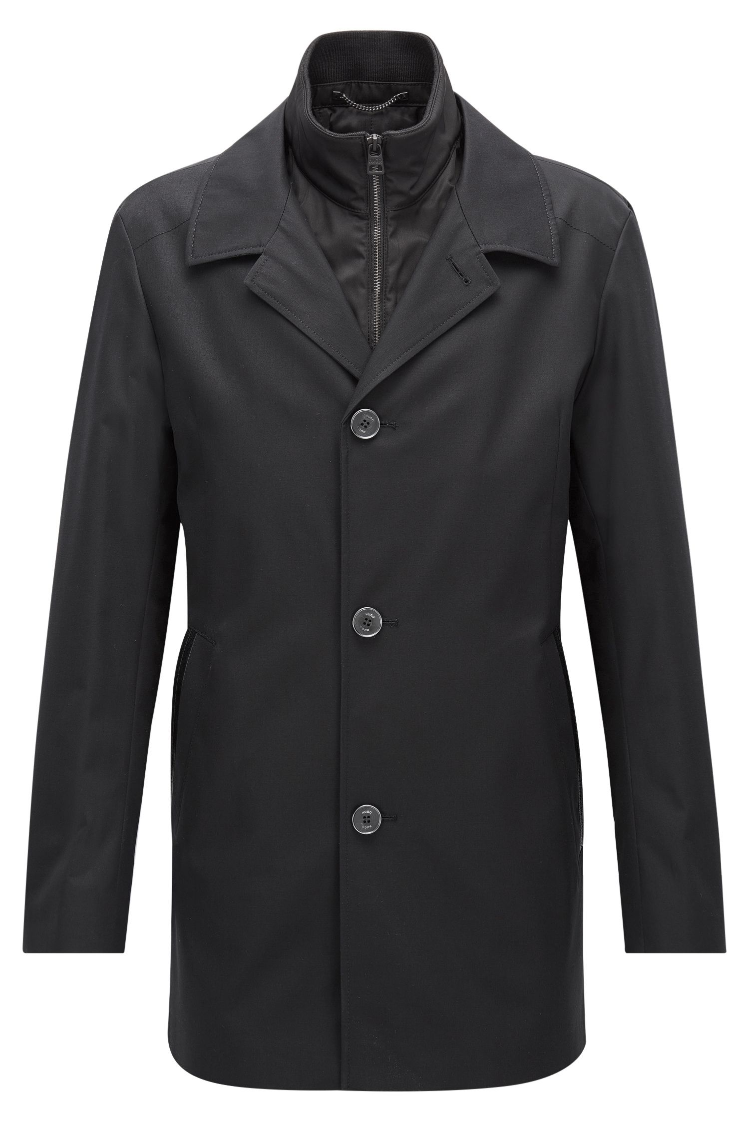 Regular-fit jacket in a water-repellent fabric
