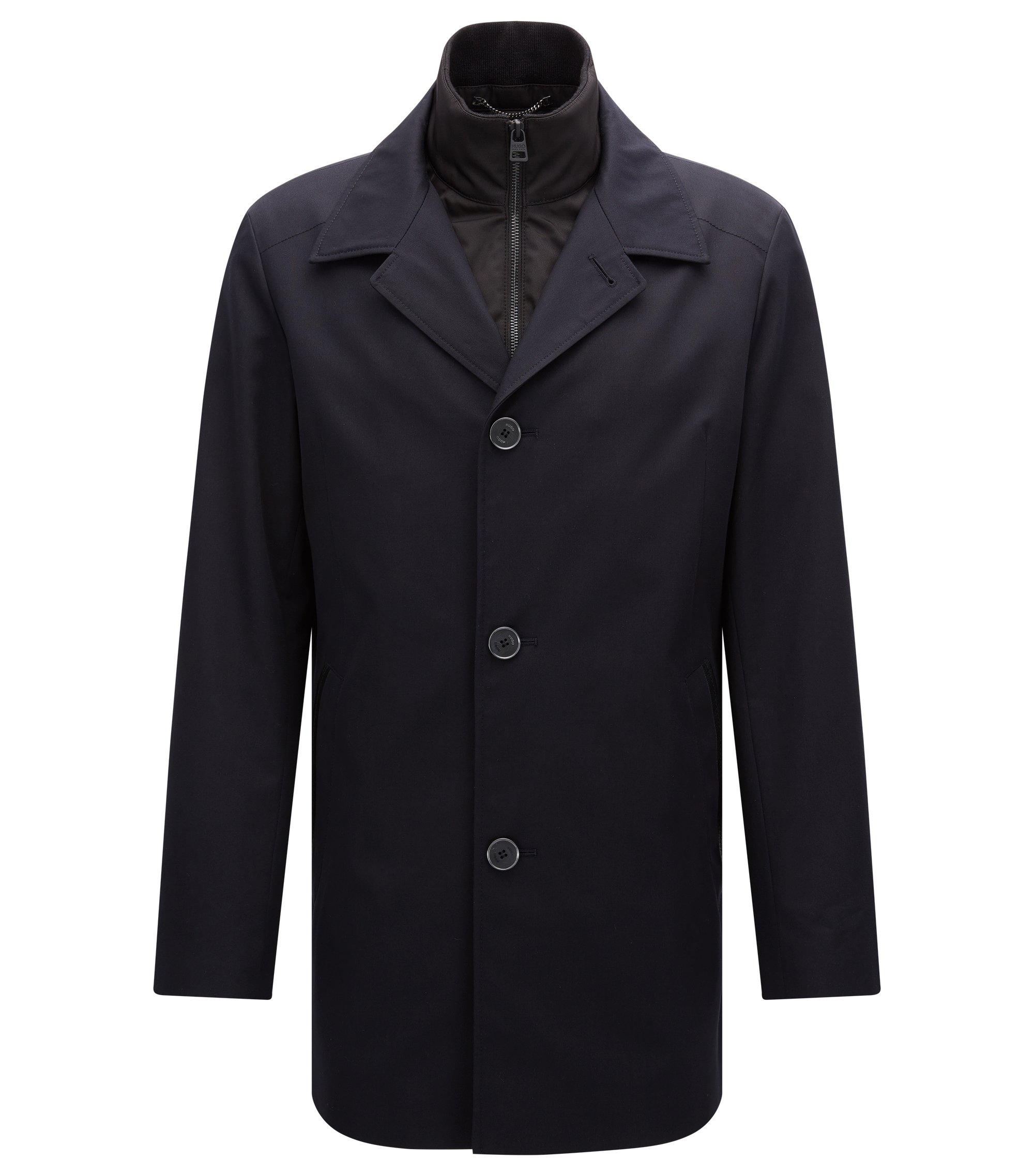 Regular-fit jacket in a water-repellent fabric, Dark Blue