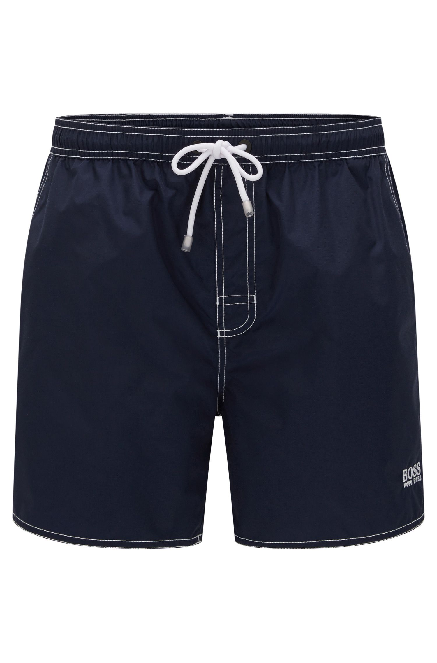 Drawstring swim shorts in quick-drying fabric