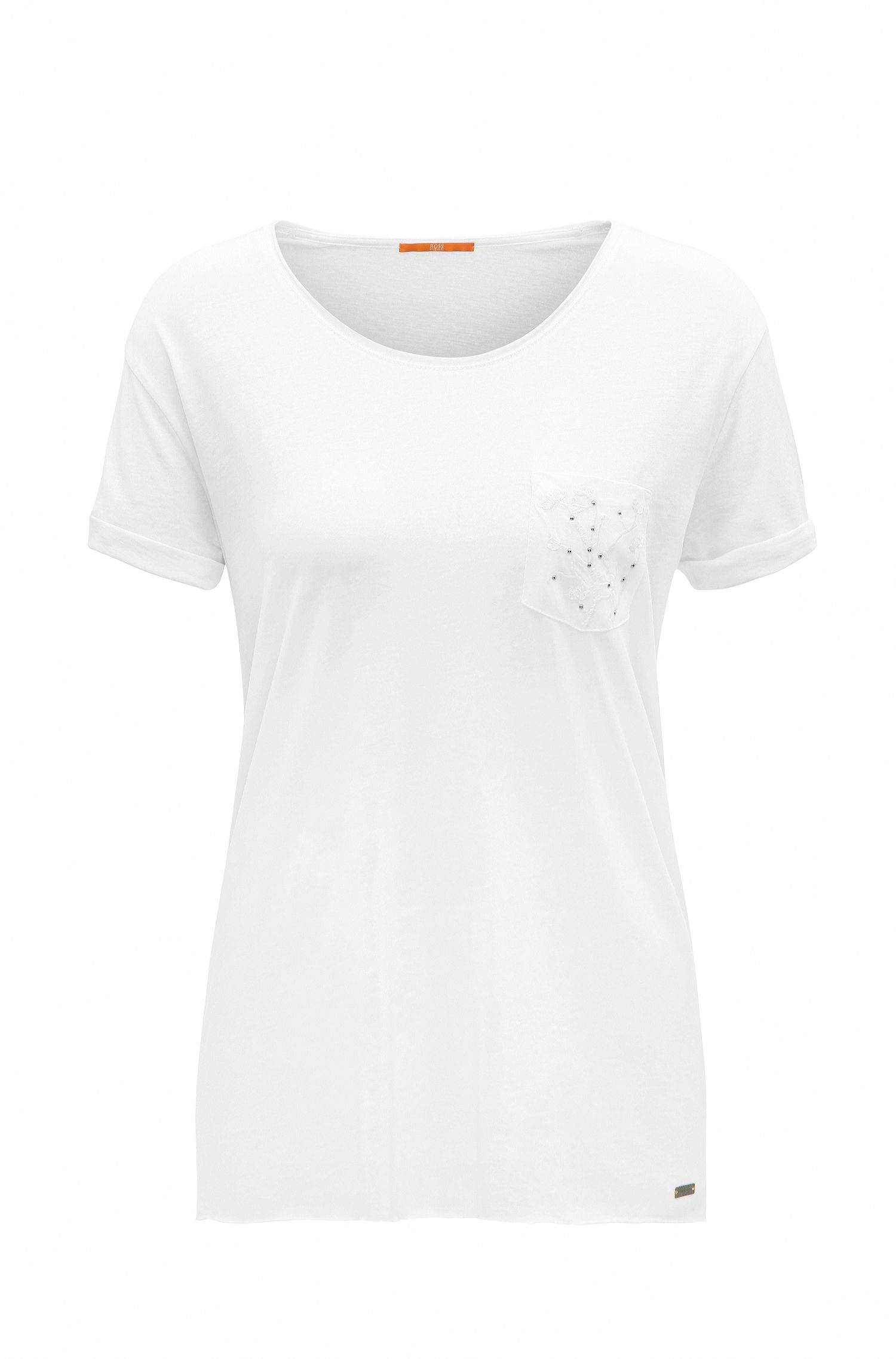 Camiseta relaxed fit en tejido fluido
