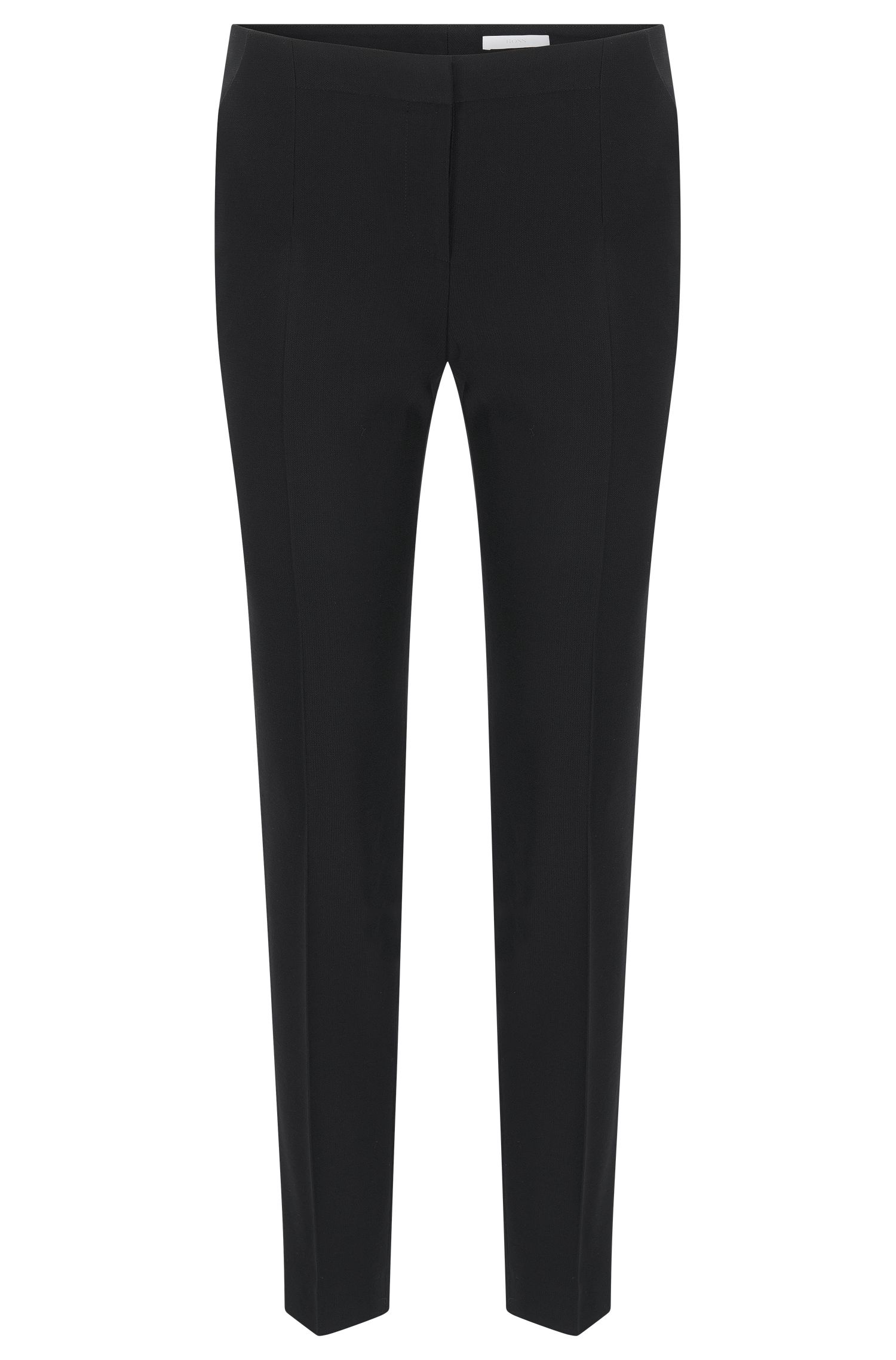 Slim-fit trousers in stretch virgin wool