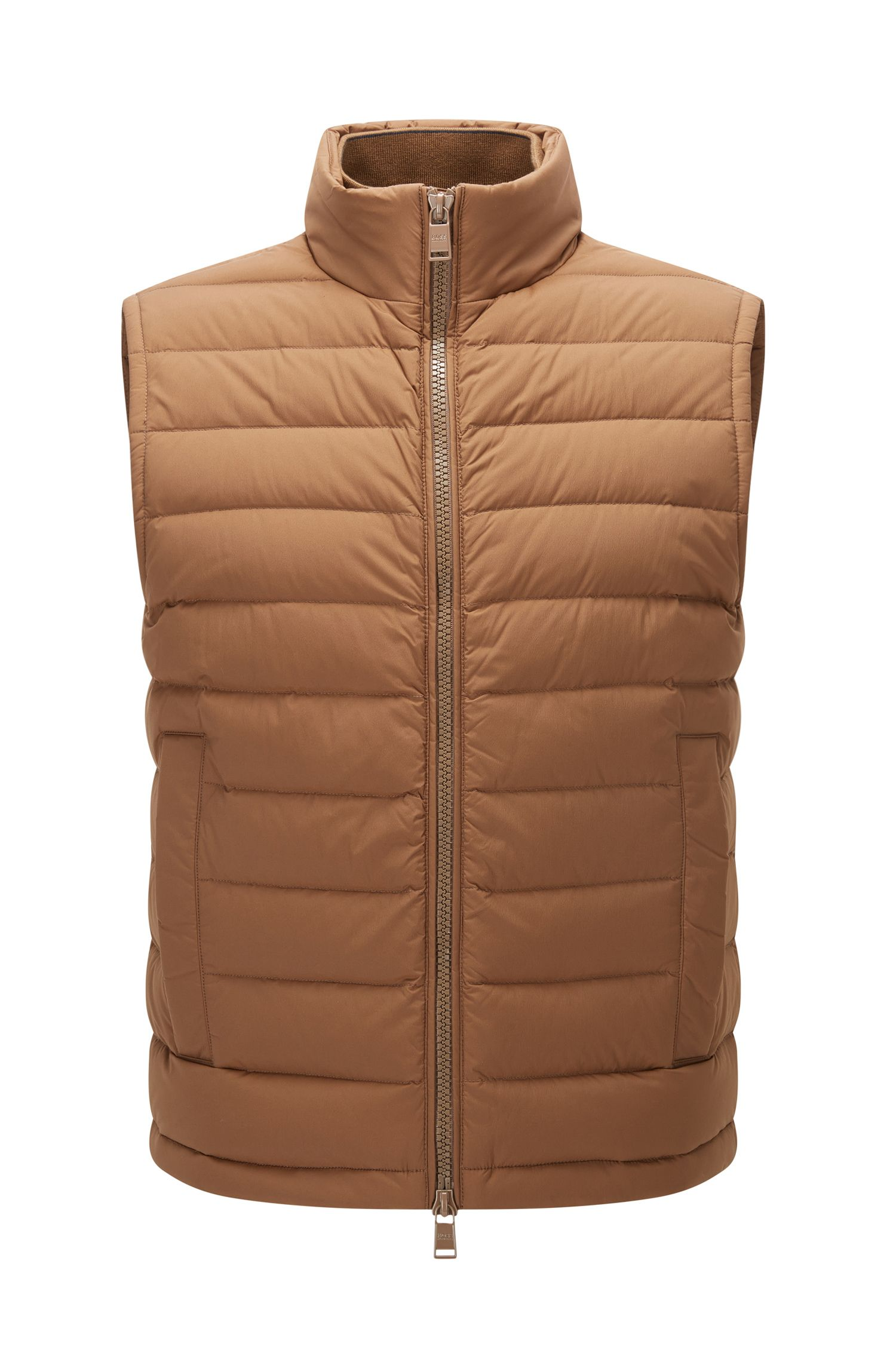 Regular-fit gilet in water-repellant stretch fabric