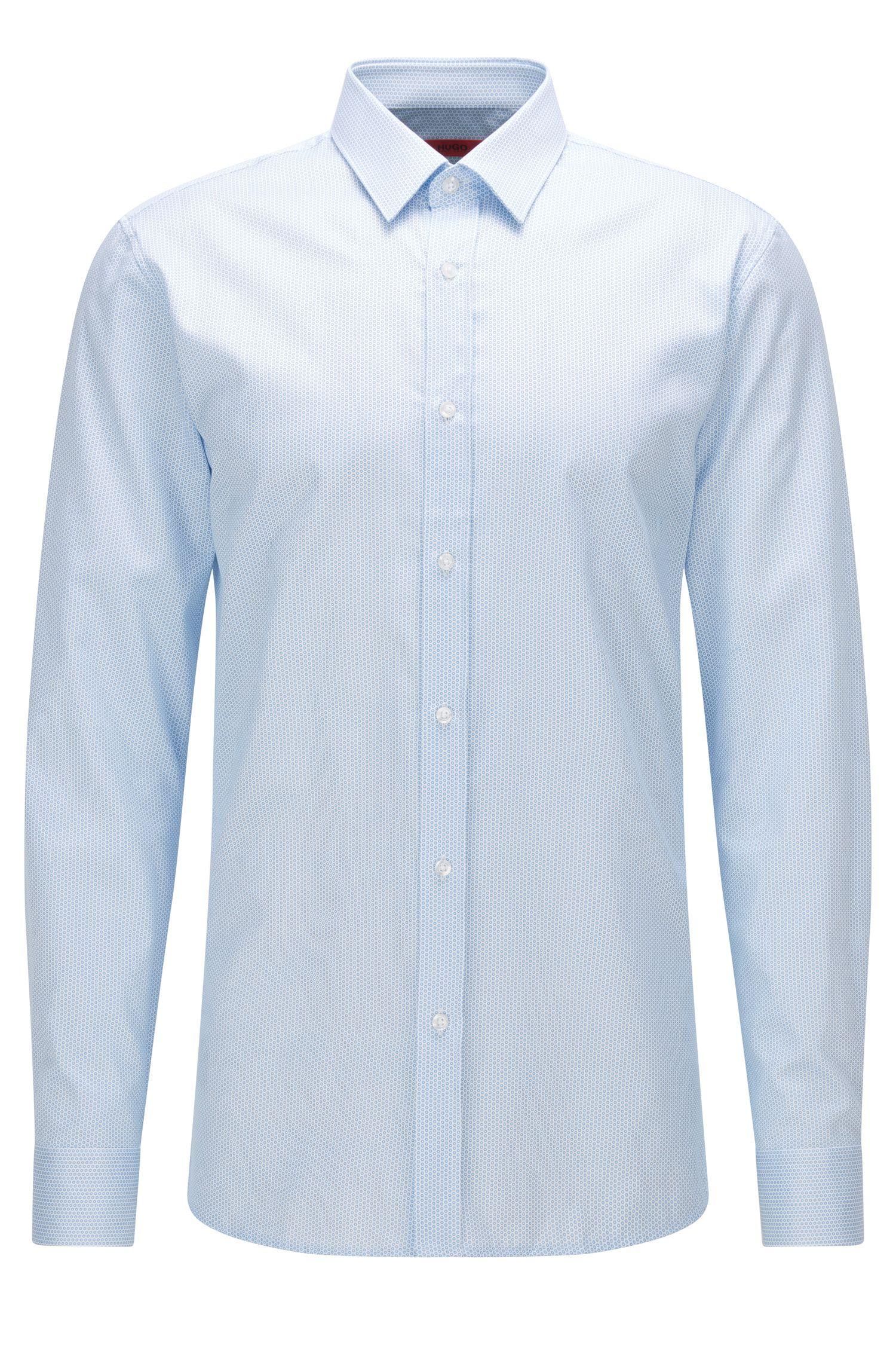 Slim-Fit Hemd aus Baumwolle mit feinem geometrischem Print