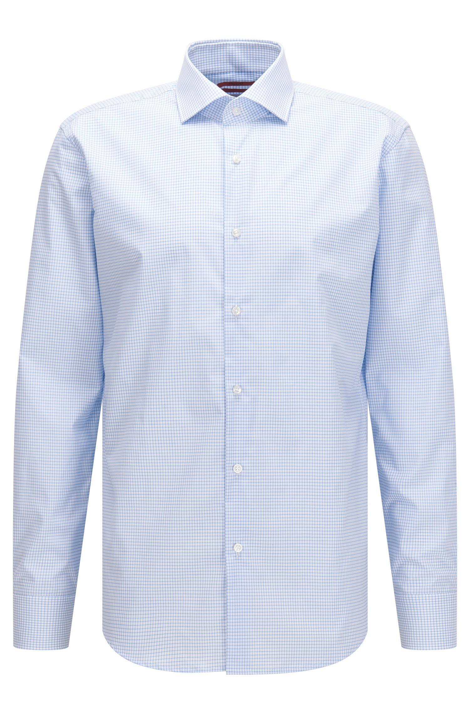 Chemise Regular Fit en coton, à motif vichy